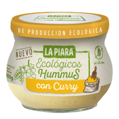 Hummus La Piara ecologico, receta con curry 200 g - embridge.mx