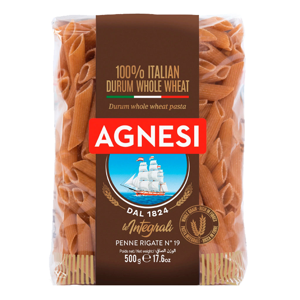 Pasta Agnesi Pluma integral 500 g - embridge.mx