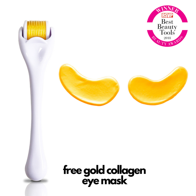 Ultra Skinmetics Roll & Repair System (Free 24 Carat Gold Collagen Eye Mask Included)
