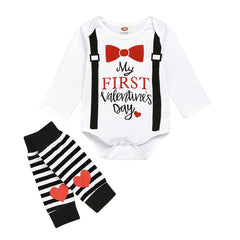 Valentines Suspenders Set