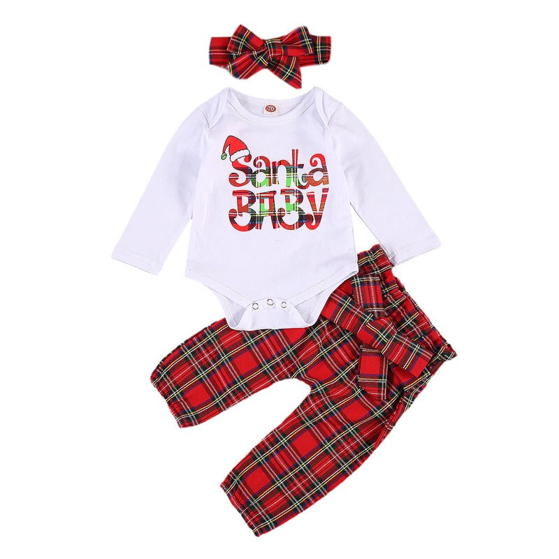 Santa Baby Plaid Set