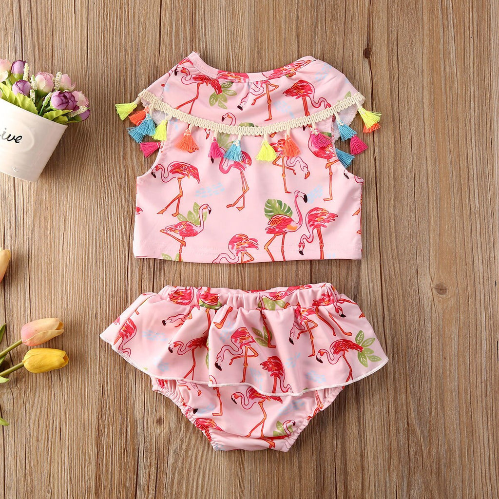 Flamingo Tassel Set