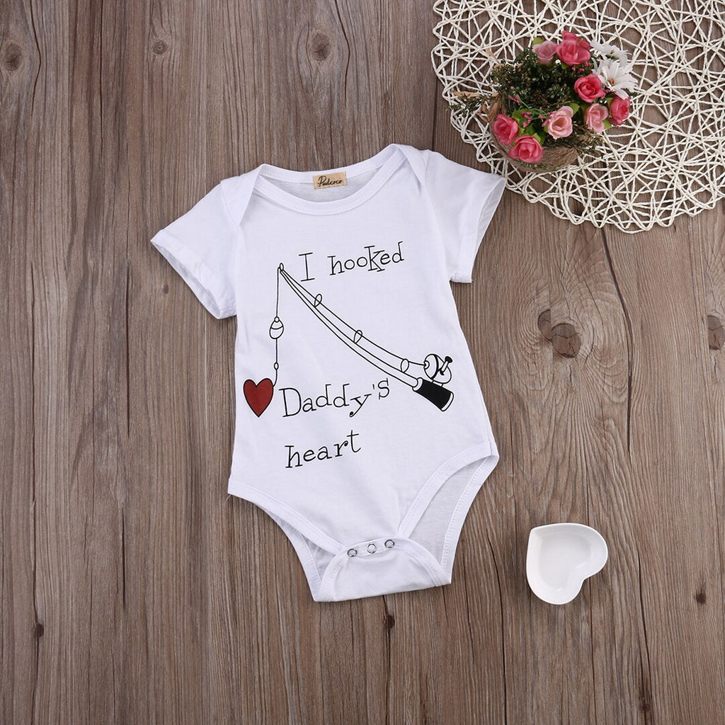 I Hooked Daddy's Heart Onesie