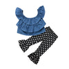 Image of Polka Dot Denim Set
