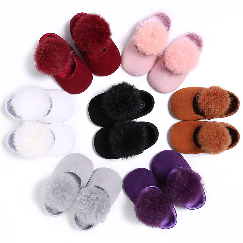 Fur Ball Baby Shoes