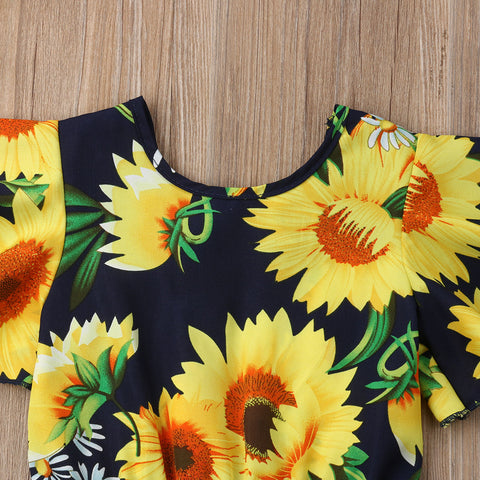 Trendy Sunflower Romper