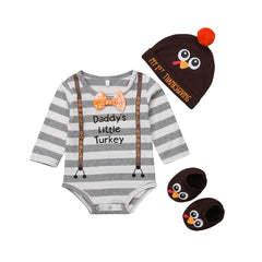 Daddy's Little Turkey Boy Set