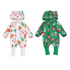 Christmas Hooded Romper