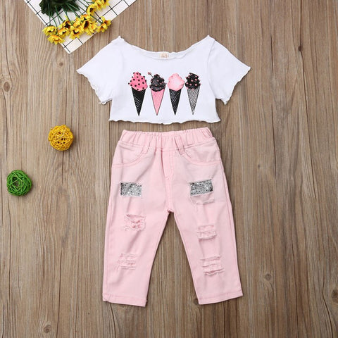 Ice Creams In Pink Set