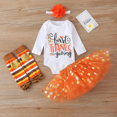 First Thanksgiving Polka Dot Set