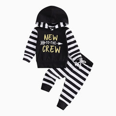 New To The Crew Hooded Set