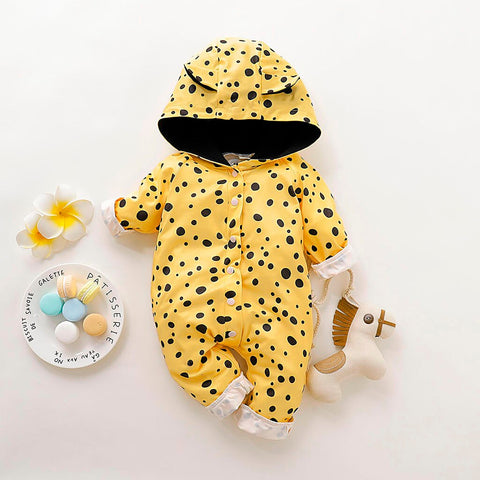 Yellow Polka Dot Romper
