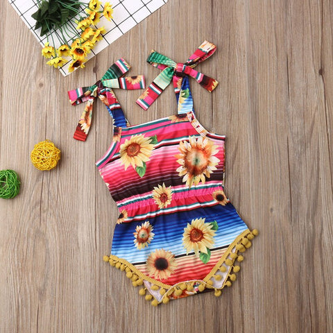 Rainbow Sunflower Playsuit