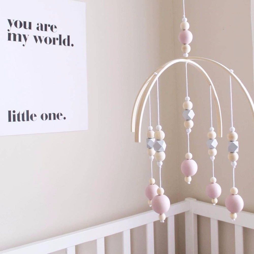 Wooden Crib Mobile - 7 colors