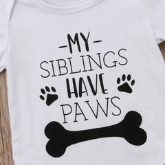 Paws Siblings Onesie