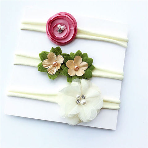 Trendy Floral Headband 3 pcs