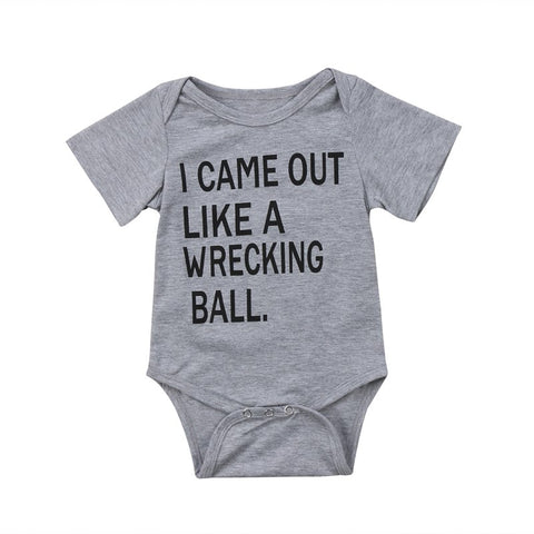 Wrecking Ball Onesie