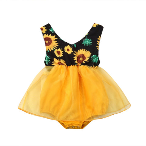 Sunflower Tutu Romper