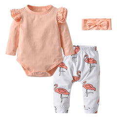 Ruffle Flamingo Set