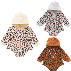 Cheetah Hooded Romper