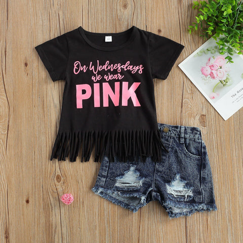 Pink Wednesday's Denim Set