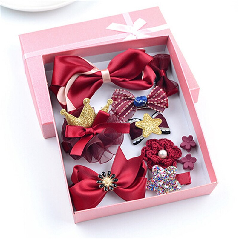 Little Princess Hair Clips 10 PCs Set - 5 colors