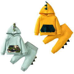 Dino Hooded Set