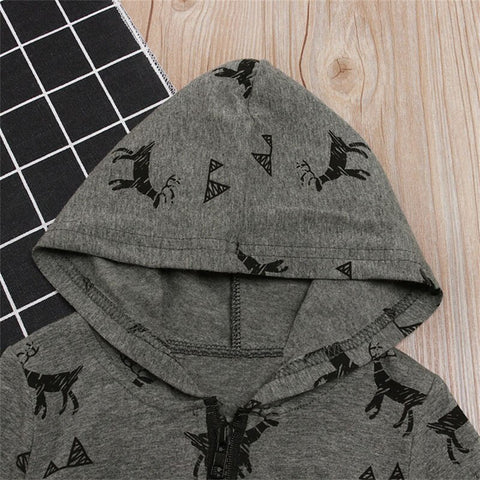 Deer Hooded Romper