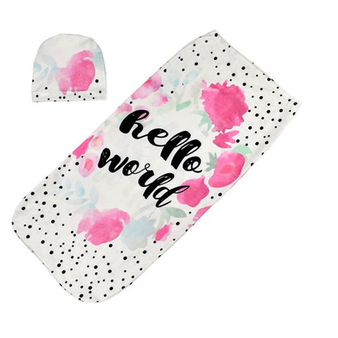Hello World Newborn Swaddle Bag