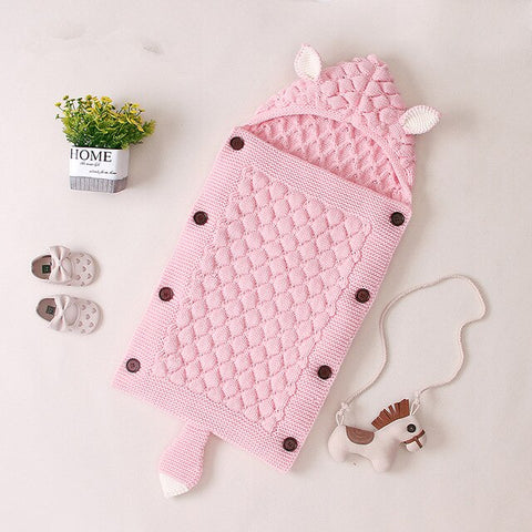 Baby Fox Knitted Sleeping Bag