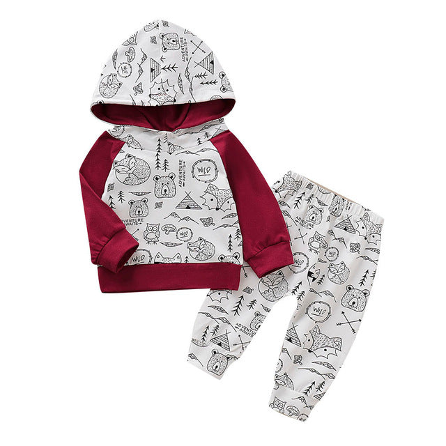 Wild Life Hooded Set