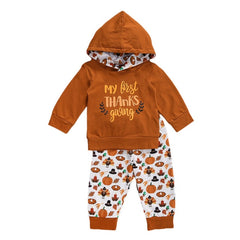 First Thanksgiving Hooded Set