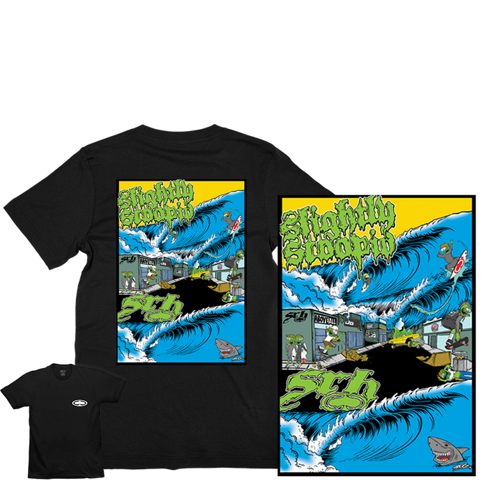 SRH x SLIGHTLY STOOPID TEE + POSTER  (Artwork by TROG)