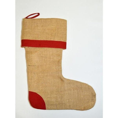 Jute Stocking with Red Trim