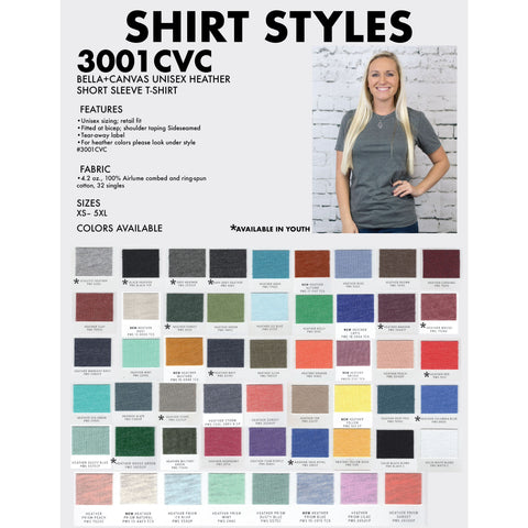 Heather Soft T-Shirt 3001