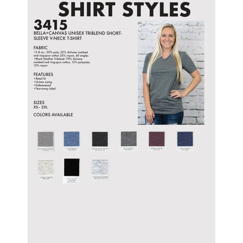 Triblend Soft V-Neck Tee