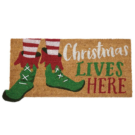 Christmas Lives Here Door Mat