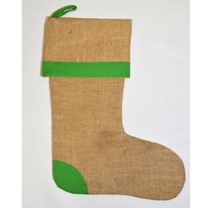 Jute Stocking with Green Trim