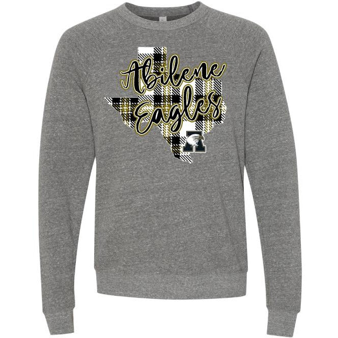 Abilene High Eagles - Plaid Texas Long Sleeve T-Shirt