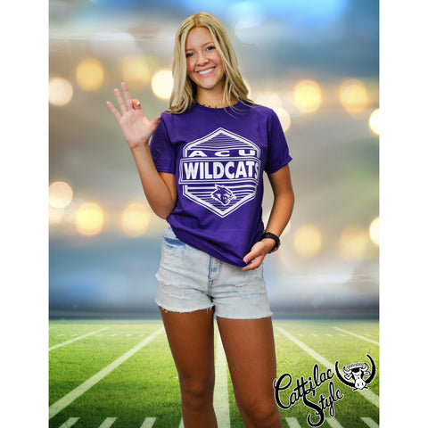 Abilene Christian University Wildcats - Hexagon T-Shirt