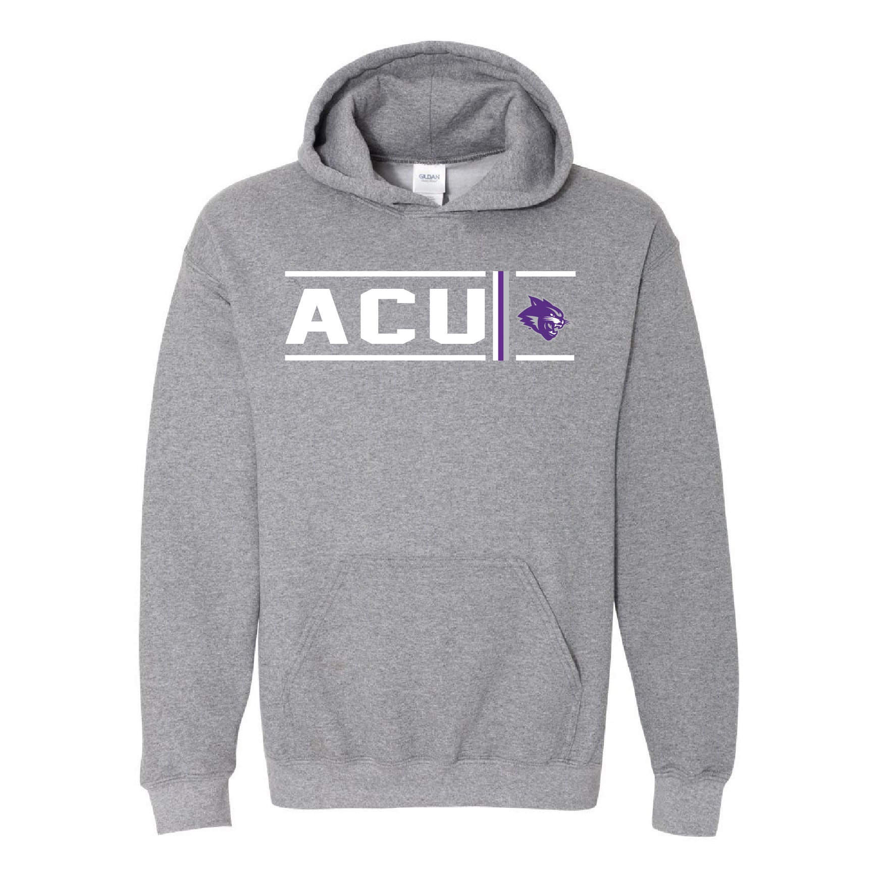 Abilene Christian University Wildcats - Simple Stripe Hoodie