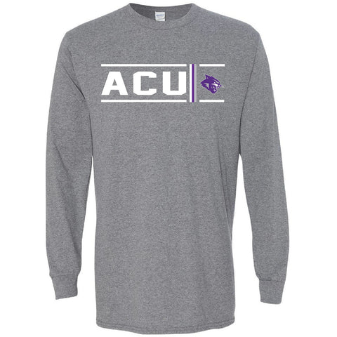 Abilene Christian University Wildcats - Simple Stripe Long Sleeve T-Shirt