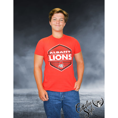 Albany Lions - Hexagon T-Shirt