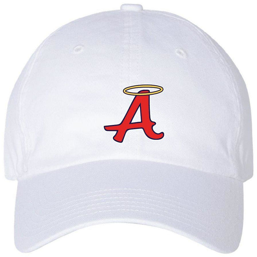 Ladies White Unstructured Cap - Abilene Softball