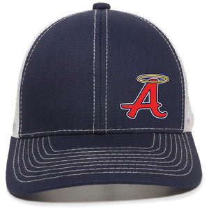 Navy with White Mesh Back Cap - Abilene Baseball
