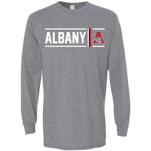 Albany Lions - Simple Stripe Long Sleeve T-Shirt