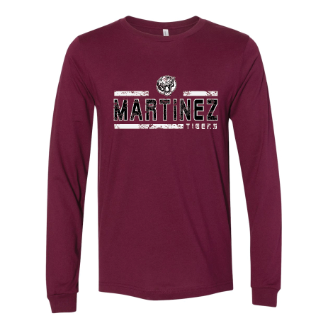 Martinez Tigers - Striped Long Sleeve T-Shirt