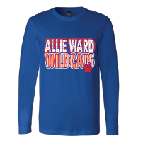 Allie Ward Wildcats - Stripes & Dots Long Sleeve T-Shirt
