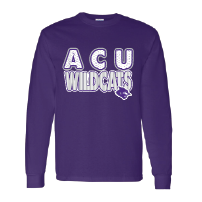 Abilene Christian University Wildcats - Stripes & Dots Long Sleeve T-Shirt