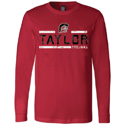 Taylor Trojans - Striped Long Sleeve T-Shirt